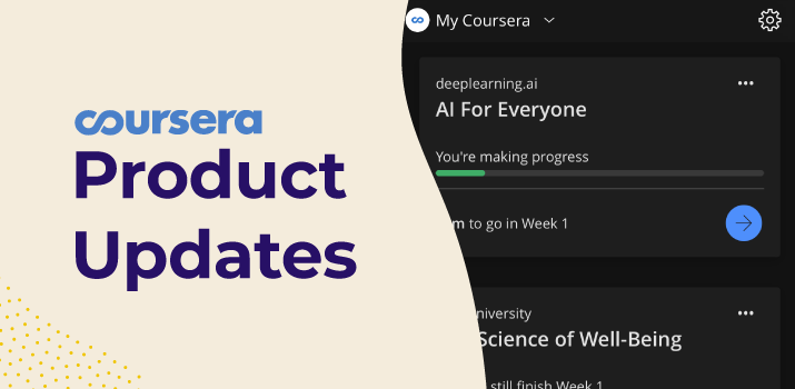 Learn by day or night: Dark mode now available on the Coursera iOS app