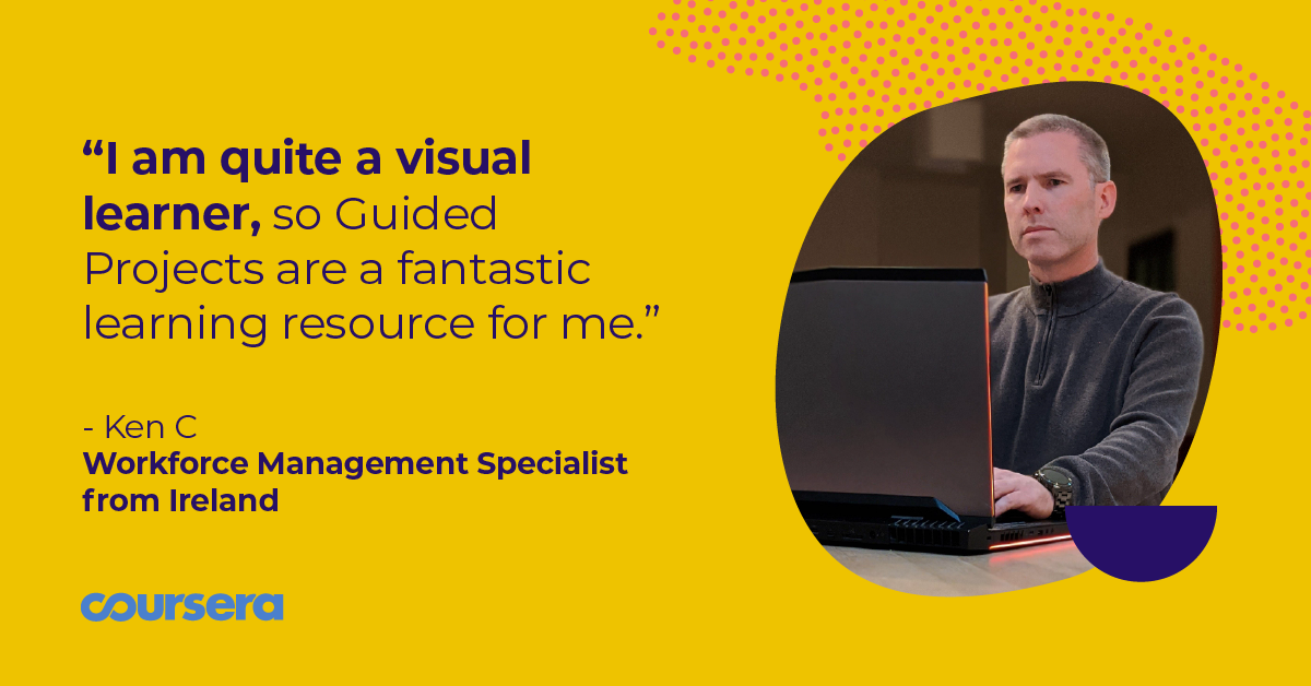 How Ken's using Guided Projects to continue building in-demand career skills